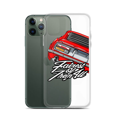 DATSUN FAIRLADY IPHONE CASE  ( RED )