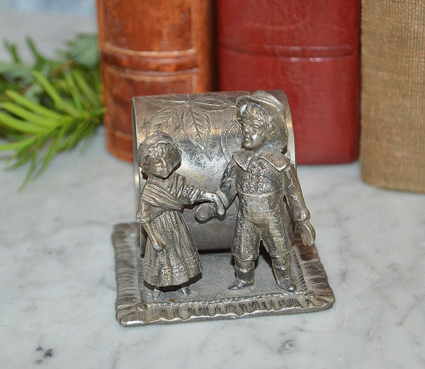 Antique Jack and Jill Napkin Ring Kate Greenaway Toronto Silver Plate
