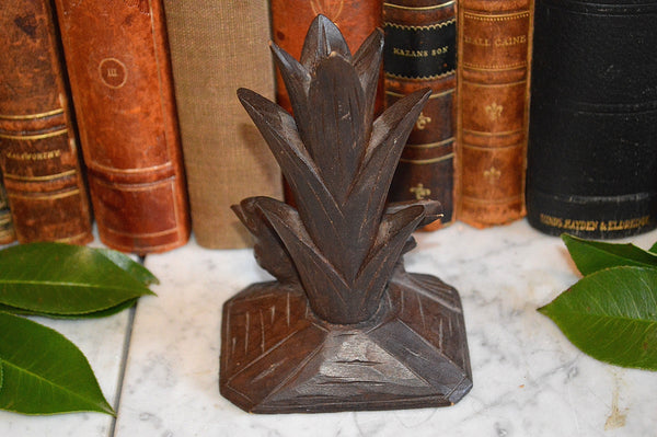 Antique German Black Forest Vase Holder Carved Wood Bird