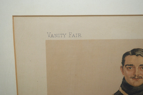 Antique Framed Lithograph Vanity Fair 1894 Benjie Oarsman Spy Leslie Ward