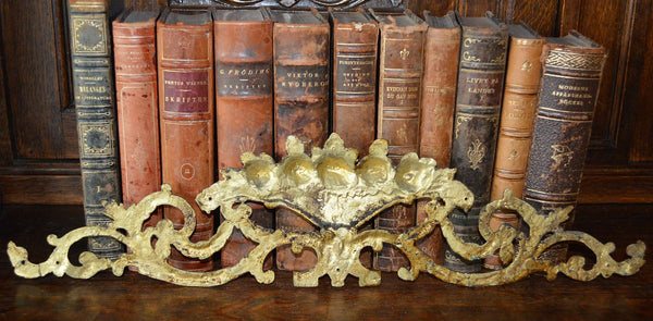 Antique French Pediment Ormolu Bronze Floral Roses Vase - Antique Flea Finds - 5