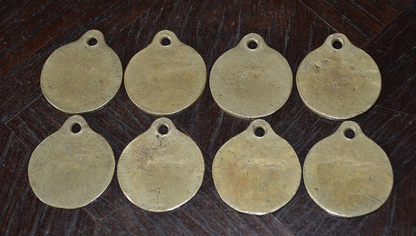 Antique French Hotel Plaque Key Tag Brass Number Sign Hotel Dumain Plombieres Les Bains - Antique Flea Finds - 5