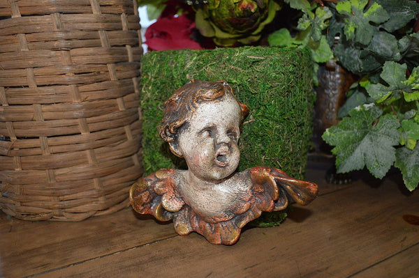 Vintage German Cherub Angel in Stoneware