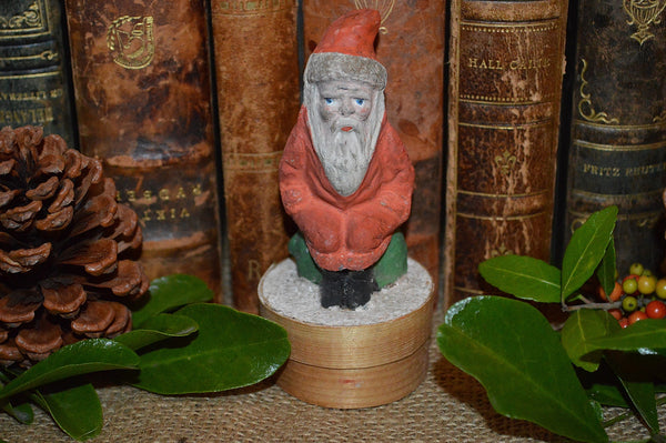 Antique Small German Red Santa Candy Container Box