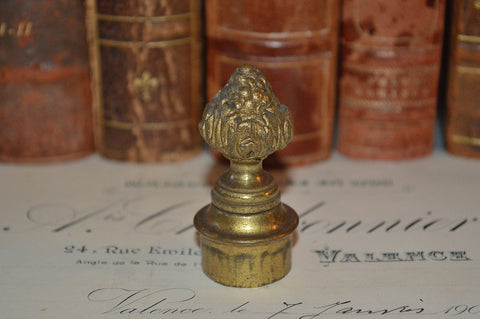 Antique French Candle Snuffer Bronze Artichoke Design