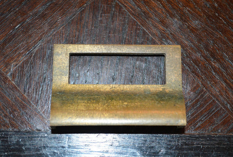 Antique Bin Pull Apothecary Cabinet Drawer Label Handle Hardware - Antique Flea Finds