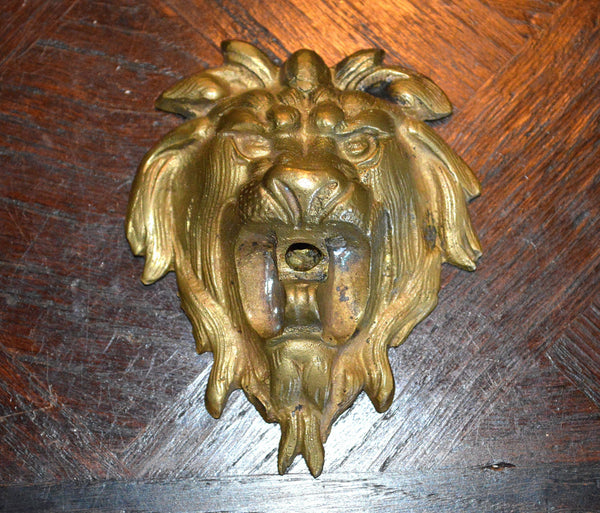 Antique Bronze Lion Head French Ormolu Hardware - Antique Flea Finds