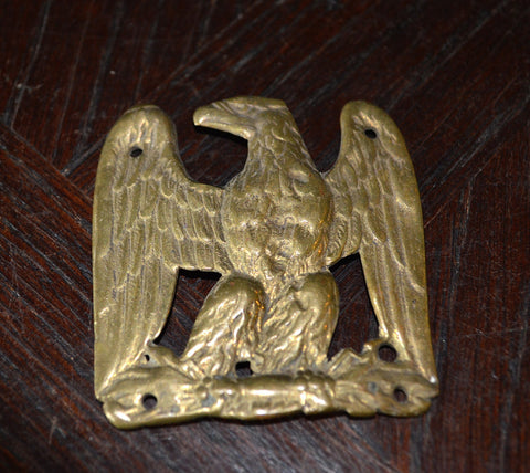Antique French Bronze Eagle Trim Piece Embellishment Mount Hardware - Antique Flea Finds