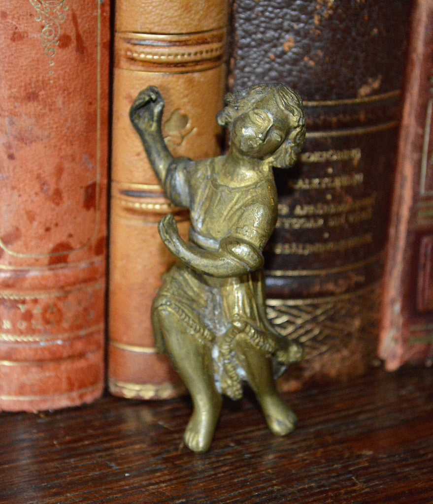Antique French Figural French Female Bronze Clock Mount Hardware - Antique Flea Finds - 1