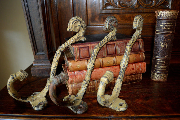 Antique French Cast Iron Large Hook Hardware 3 Available - Antique Flea Finds - 4