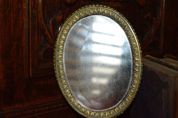 Antique French Hand Mirror with Lovely Shell Detail - Antique Flea Finds - 3
