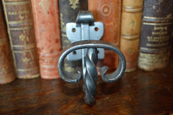 Vintage French Cast Iron Twist Hook Hardware - Antique Flea Finds - 2
