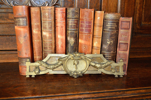 Antique French Pediment Bronze Art Deco Hardware Mount - Antique Flea Finds - 1