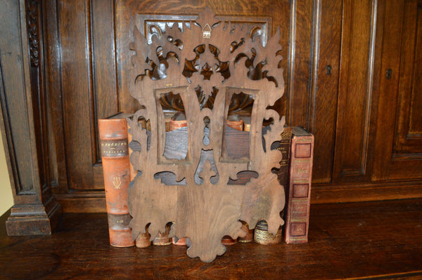 Antique Etagere French Carved Wood Console Display Shelf - Antique Flea Finds