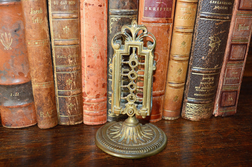 Antique French Bronze Ornate Match Safe or Letter Holder - Antique Flea Finds