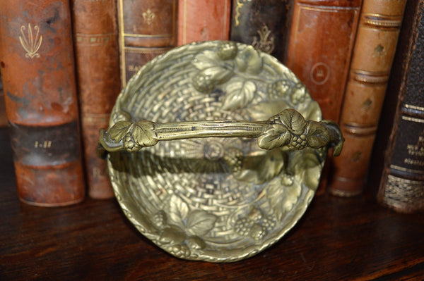 Antique French Ormolu Trinket Dish Decorative Accessory Berries Design - Antique Flea Finds - 3