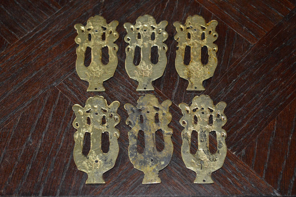 Antique French Musical Lyre Bronze Mount Hardware 4 Available - Antique Flea Finds - 3