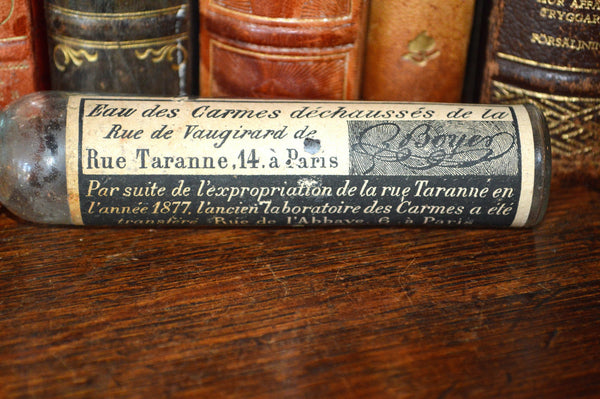 Antique Paris French Perfume Bottle With Original Label Perfumerie on Rue de l'Abbaye - Antique Flea Finds - 2