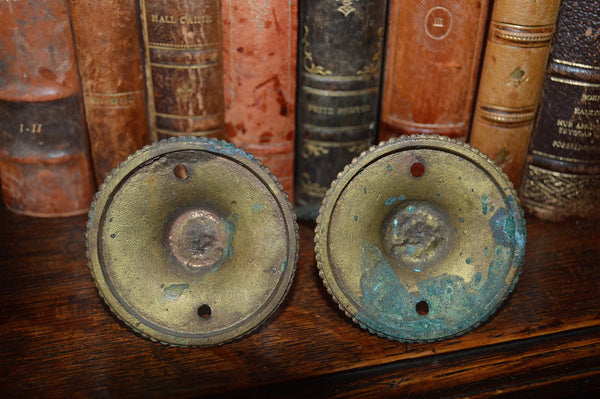 Antique Pair French Hooks Bronze And Copper Decorative Hardware - Antique Flea Finds - 5