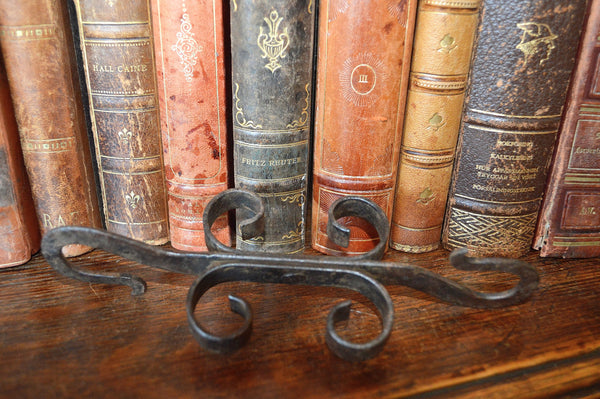 Antique French Double Ended Cast Iron Hook Hardware - Antique Flea Finds - 3