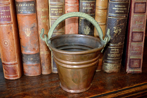 Antique French Copper Pot Small Pail French Country - Antique Flea Finds - 1