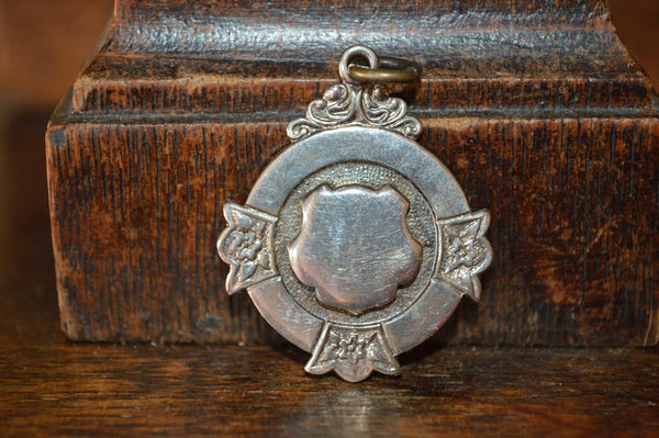 Antique Pocket Watch Fob English Silver Plated - Antique Flea Finds - 1