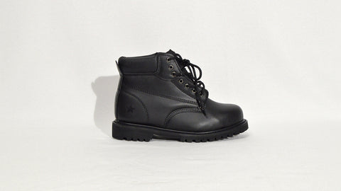 Black Steel Toe Boot