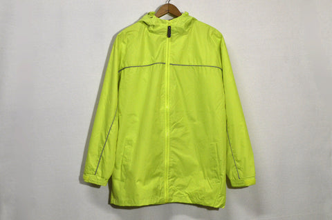 Hi-Viz Hooded Safety Windbreaker