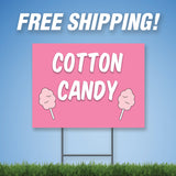 "Cotton Candy 18""x24"" Yard Sign & Stake - 2 Sided - E16"