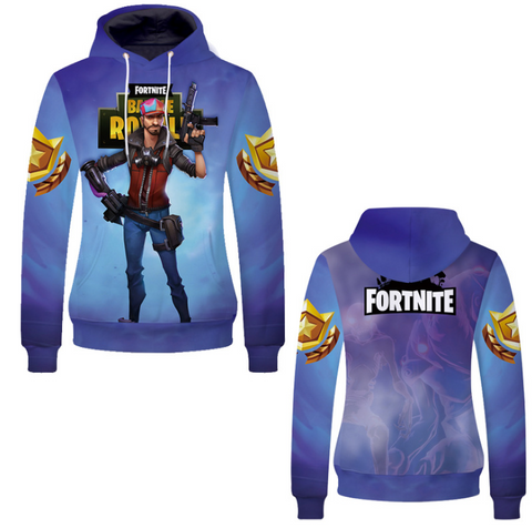 Pizoff Unisex Long Sleeve Fortnite Themes Printing Hoodie MHA15
