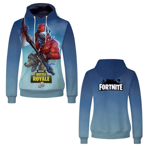 Pizoff Unisex Long Sleeve Fortnite Themes Printing Hoodie MHA16