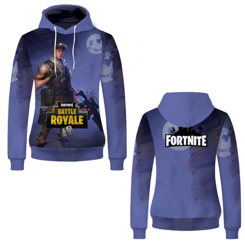 Pizoff Unisex Long Sleeve Fortnite Themes Printing Hoodie MHA18