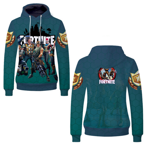 Pizoff Unisex Long Sleeve Fortnite Themes Printing Hoodie MHA19