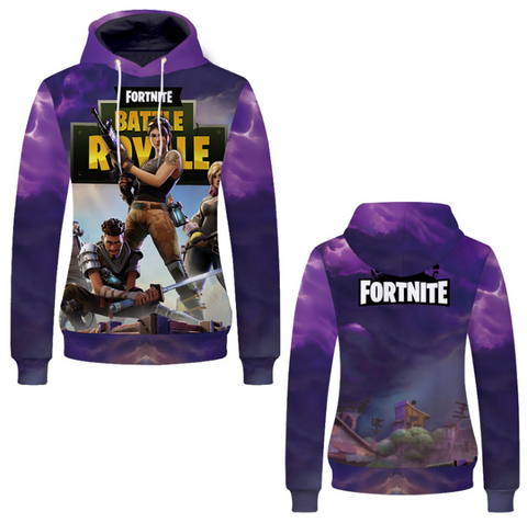 Pizoff Unisex Long Sleeve Fortnite Themes Printing Hoodie MHA20