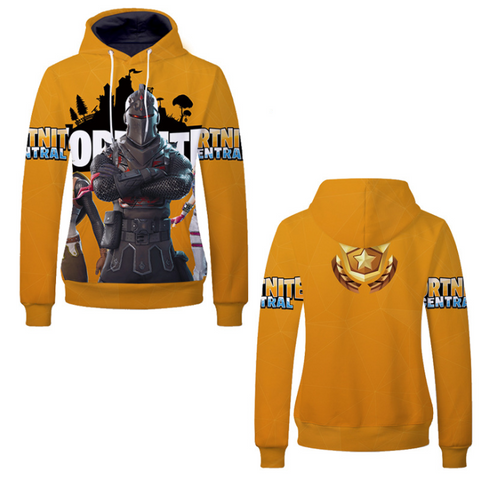 Pizoff Unisex Long Sleeve Fortnite Themes Printing Hoodie MHA21