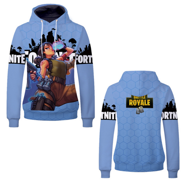 Pizoff Unisex Long Sleeve Fortnite Themes Printing Hoodie MHA22