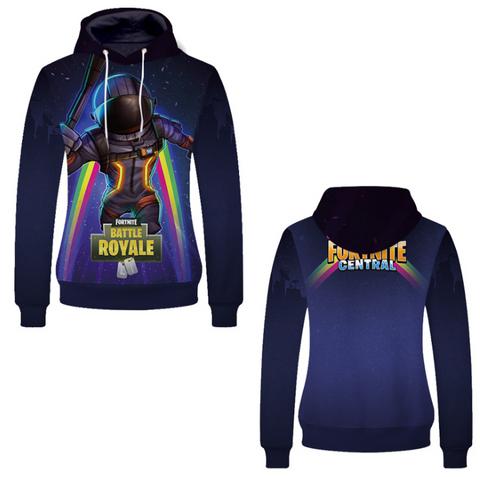 Pizoff Unisex Long Sleeve Fortnite Themes Printing Hoodie MHA23