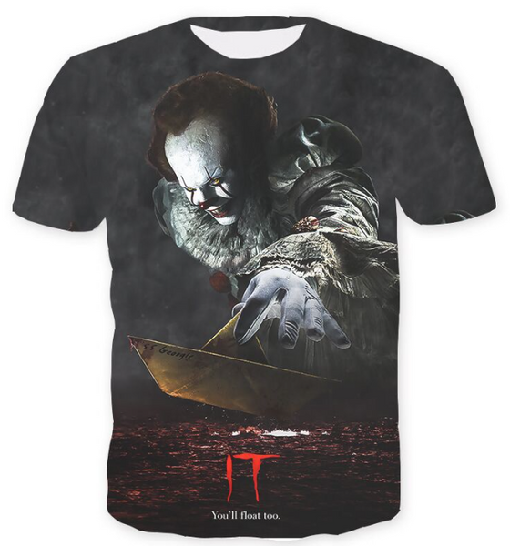 Pizoff Stephen King's It 3D Print T-shirt Version 2