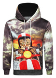 Pizoff Unisex 3D Cat Digital Print Hoodie With Pockets AC020-39