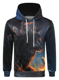 Pizoff Unisex 3D Digital Print Hoodie With Pockets AC020-40