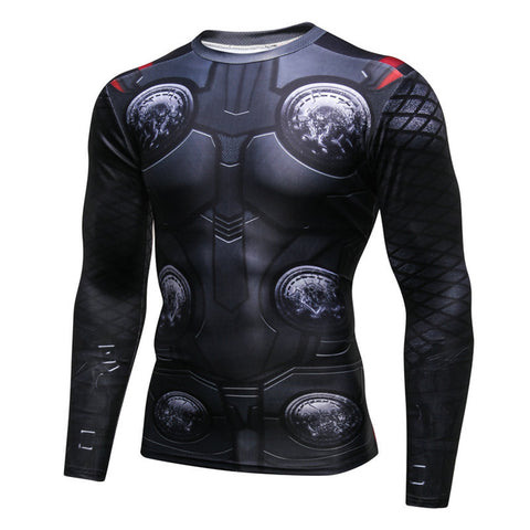 Pizoff Superhero Thor Tights Work Out Compression Muscle Long Sleeve Shirt AC110-04(Asian Size
