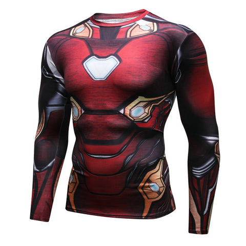 Pizoff Superhero Ironman Tights Work Out Compression Muscle Long Sleeve Shirt AC110-07(Asian Size