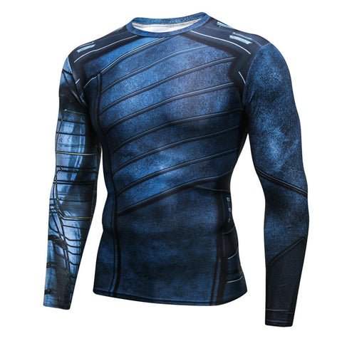 Pizoff Superhero Winter Soilder Tights Work Out Compression Muscle Long Sleeve Shirt AC110-08(Asian Size