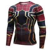 Pizoff Superhero Spiderman Tights Work Out Compression Muscle Long Sleeve Shirt AC110-10(Asian Size
