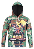 Pizoff Unisex Funny Print Hoodie Coat Long Sleeve With Front Pocket AG001-04