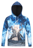 Pizoff Unisex Funny Print Hoodie Coat Long Sleeve With Front Pocket AG001-06