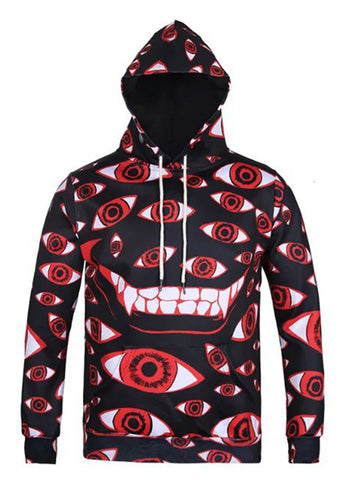 Pizoff Unisex Funny Print Hoodie Coat Long Sleeve With Front Pocket AG001-16