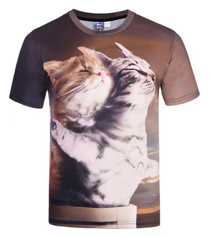 Pizoff Originality Cat 3D Digital Printing T-shirt AG003-49