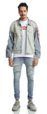 Pizoff Mens Hipster Washed Denim Jacket Coat AH018