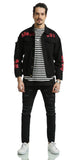 Pizoff Mens Hipster Washed Denim Black Jacket Coat AH030